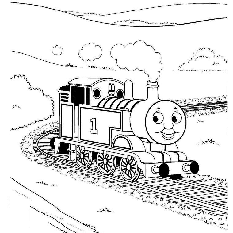 Coloriage Train Thomas | Downloadable coloring pages | Pinterest