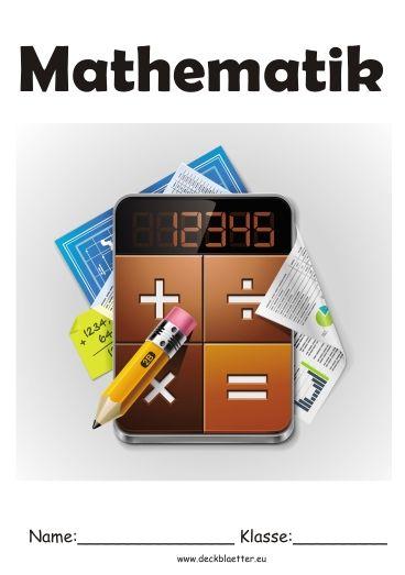 Deckblatt Mathematik 1 Deckblatt Pinterest Accounting
