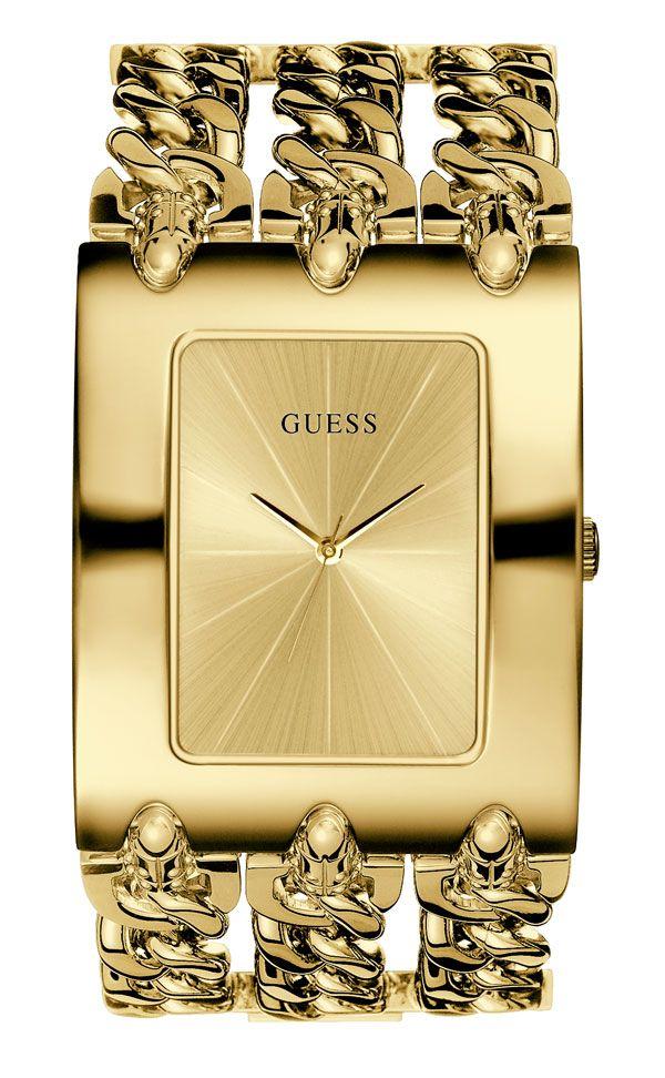 3d9f0bdf34e0e Guess inova com coleção em dourado   Lml   Watches, Bracelet watch e ...