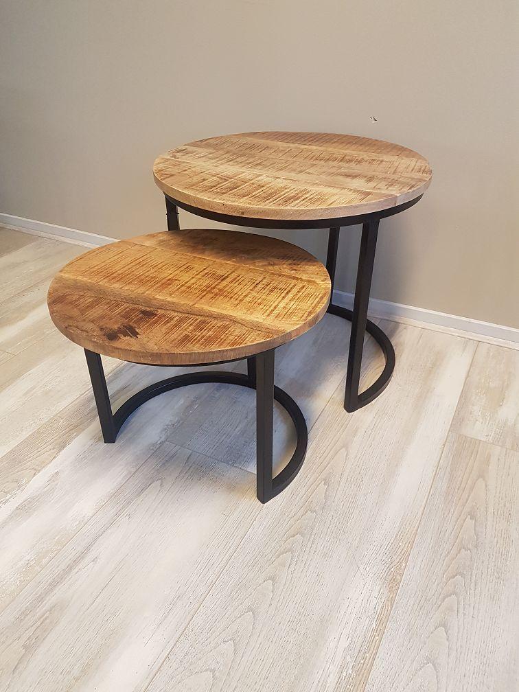 Salontafel Met Hout En Staal.Betaalbaar Stoer Industrieel Firma Hout Staal Stolek Table