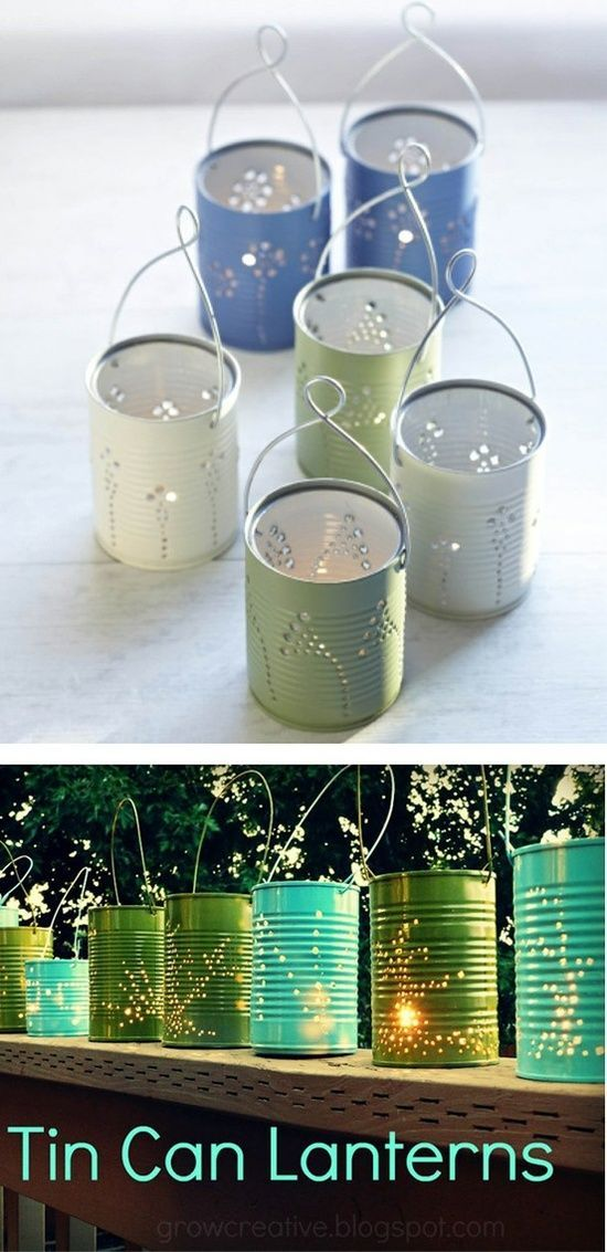 Mason Jar Outdoor Lighting Patio