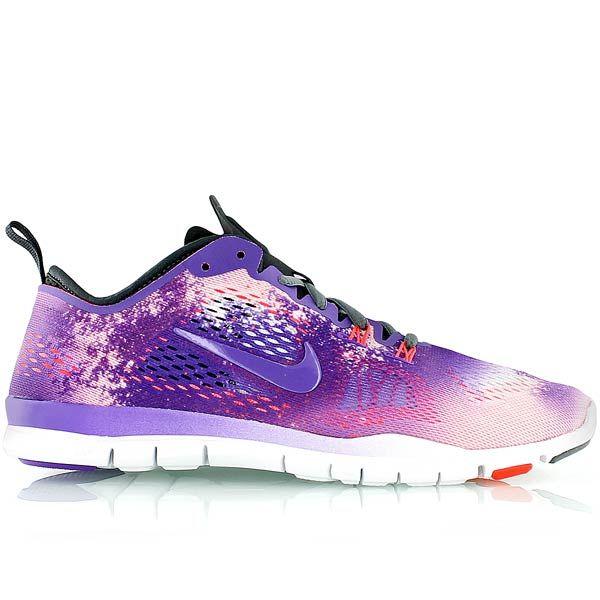 02c50bf2f2d9 Women Nike Free 5.0 TR Fit 4 Print PRT Hyper Grape Laser Orange White Violet