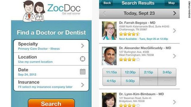 10 Great Mobile Apps Via Cnn Zocdoc S Pitch Is Simple Letting
