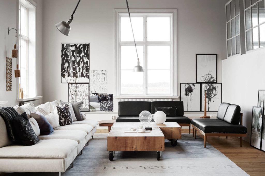 Ylva Skarp\'s living room. | Salon cosy | Pinterest