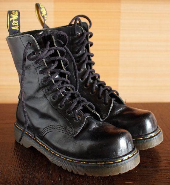 ab0cdb5bb49 Dr Martens Steeltoe INDUSTRIAL platform vintage boots 10eylet DOCS ...