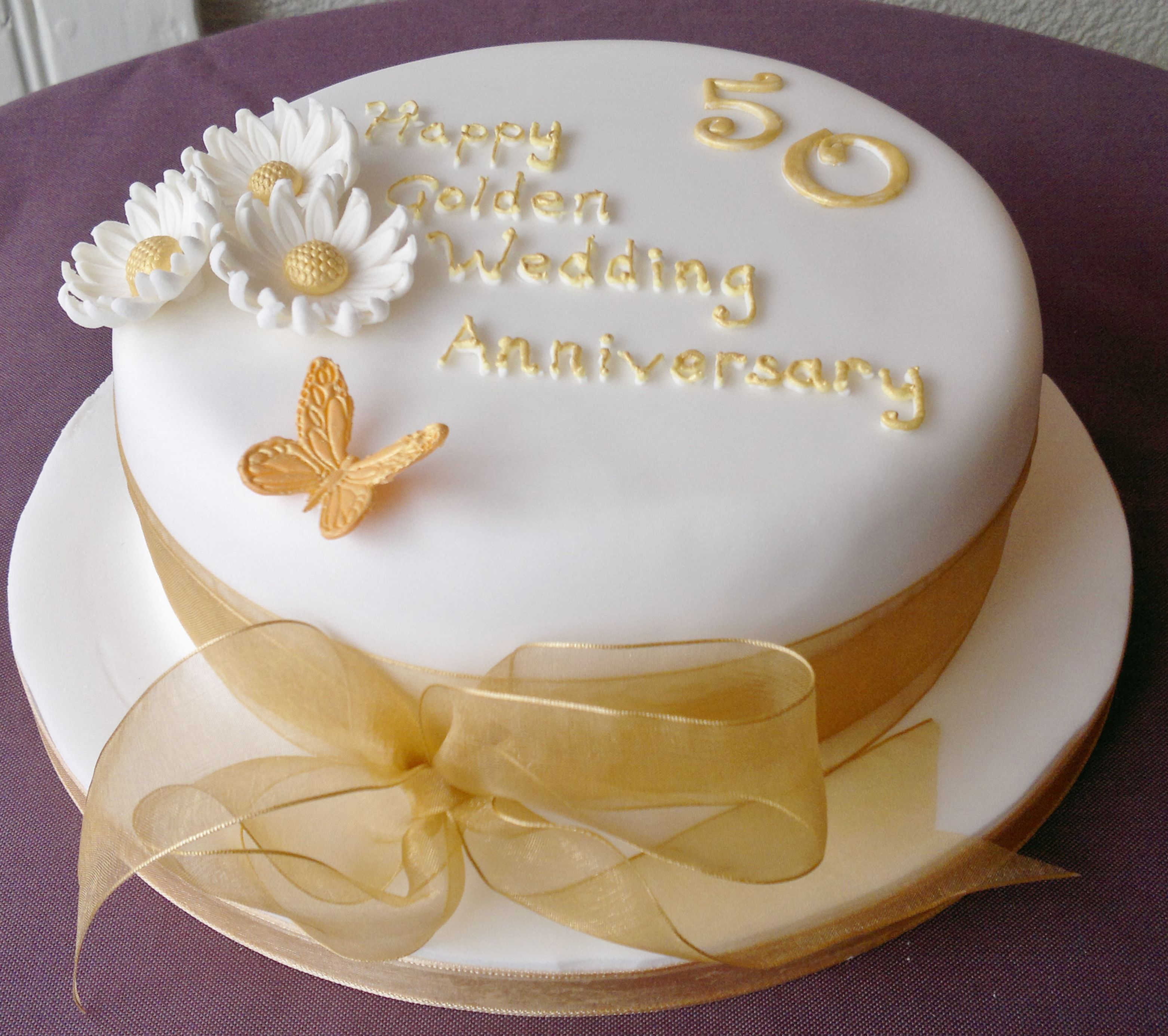 Cake Ideas For Wedding Anniversary: Golden Wedding Anniversary Cakes - Google Search