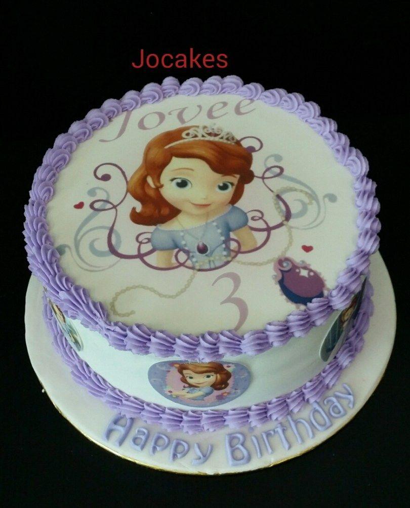 Sensational 25 Pretty Image Of Sofia The First Birthday Cakes Sofia Birthday Cards Printable Opercafe Filternl