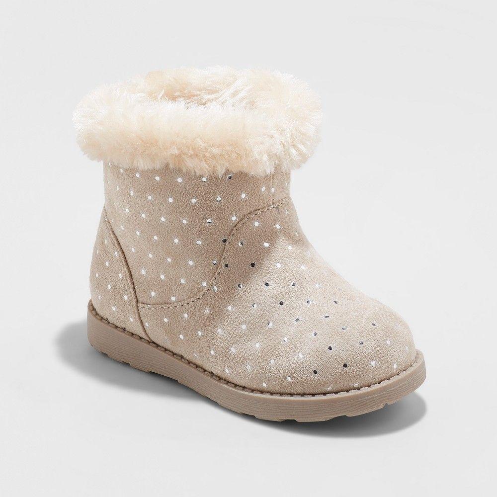 5c11d150836c Toddler Girls  Oriole Fleece Ankle Fashion Boots - Cat   Jack Tan 11 ...