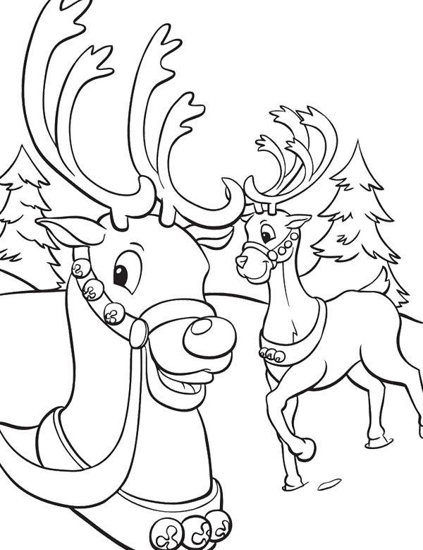 Deer Winter Coloring Page