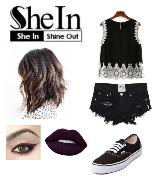 """""""~SheIn~ : #LaceTop"""" by moniybrooks on Polyvore featuring Vans and Lime Crime"""