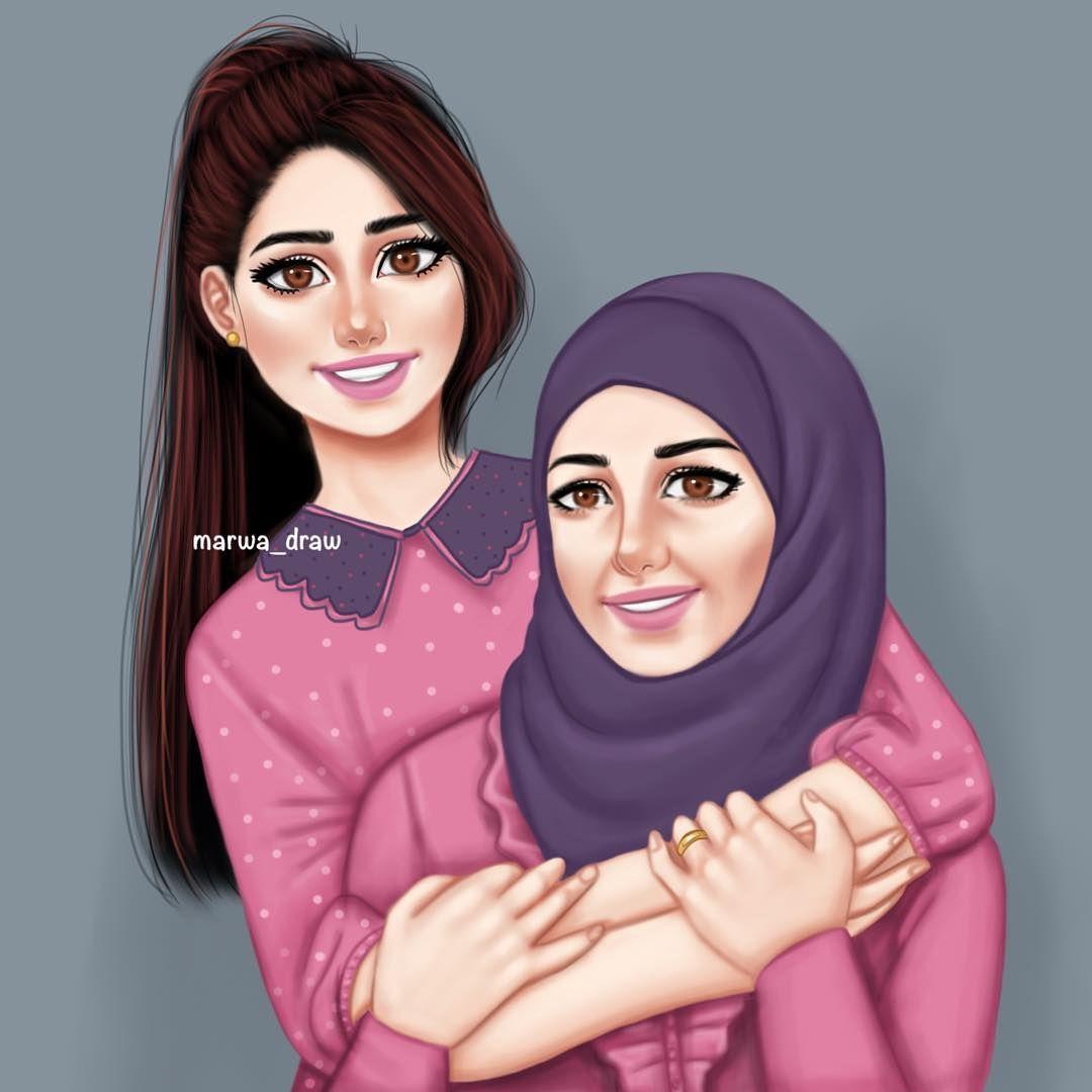 4 157 Likes 111 Comments Marwa Ali Marwa Draw On Instagram كل عام وامي وأمهاتنا بألف خير وصحة Marwa Dra Girly M Cute Cartoon Girl Girly Art