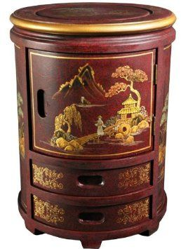 Amazon.com: Oriental Furniture Asian Furniture And Decor 18 Inch Japanese  Design Lacquered