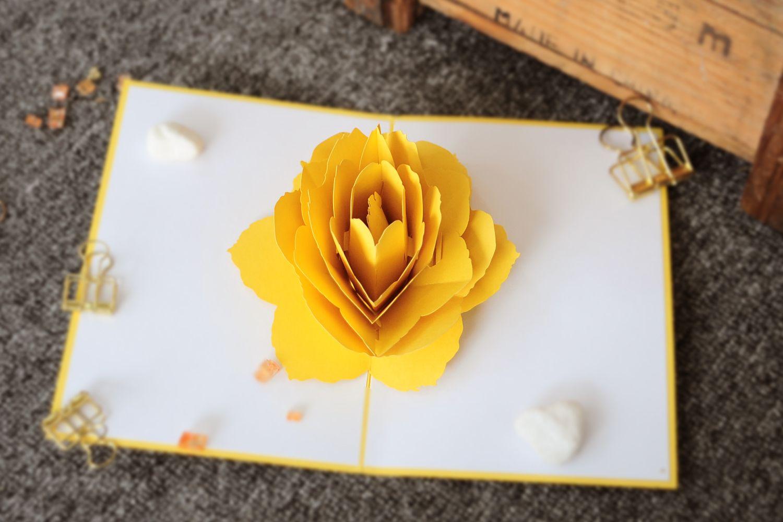 Rose Flower Pop Up Card Vietnam Pop Up Card Custom Service Fl028 Pop Up Flower Cards Pop Up Card Templates Pop Up Art