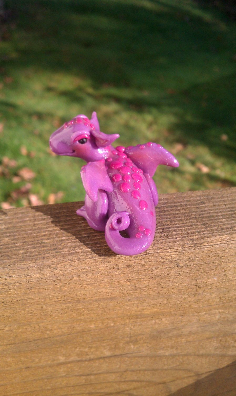 Polymer clay dragon sculpture. $18.00, via Etsy.