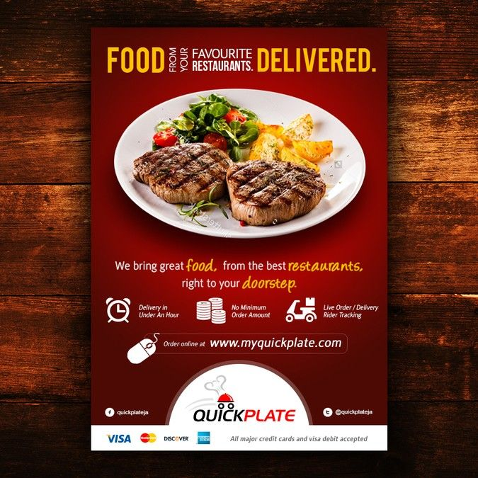 Create A Beautiful Sophisticated Flyer For A Premium Online Food