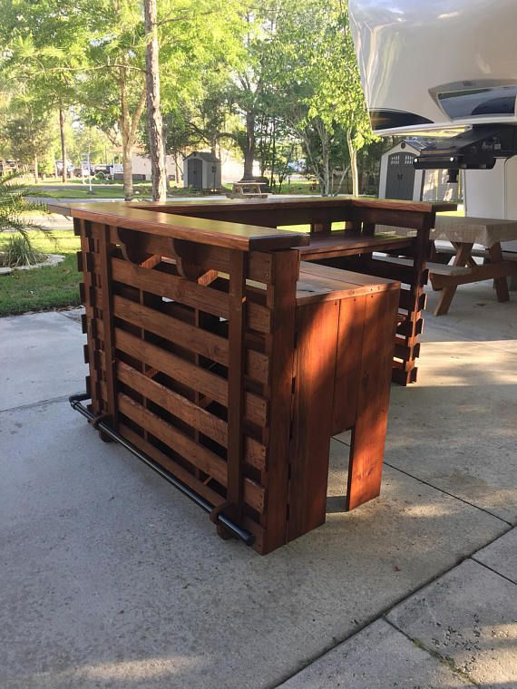 The Coral Reef ~ Pallet Bar / Tiki Bar •• August Sale •• Custom ...