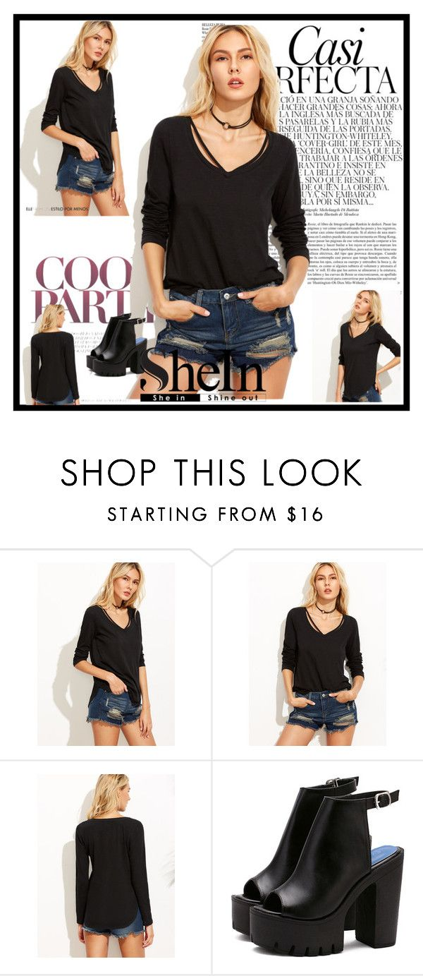 """""""camiseta de shein"""" by osiris-rojas ❤ liked on Polyvore featuring Whiteley"""