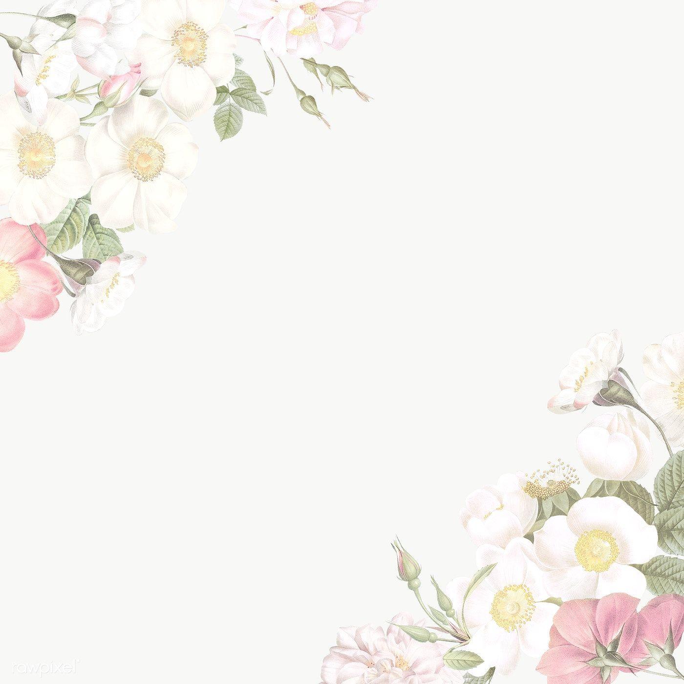 Download Premium Png Of Elegant Floral Frame Design Transparent