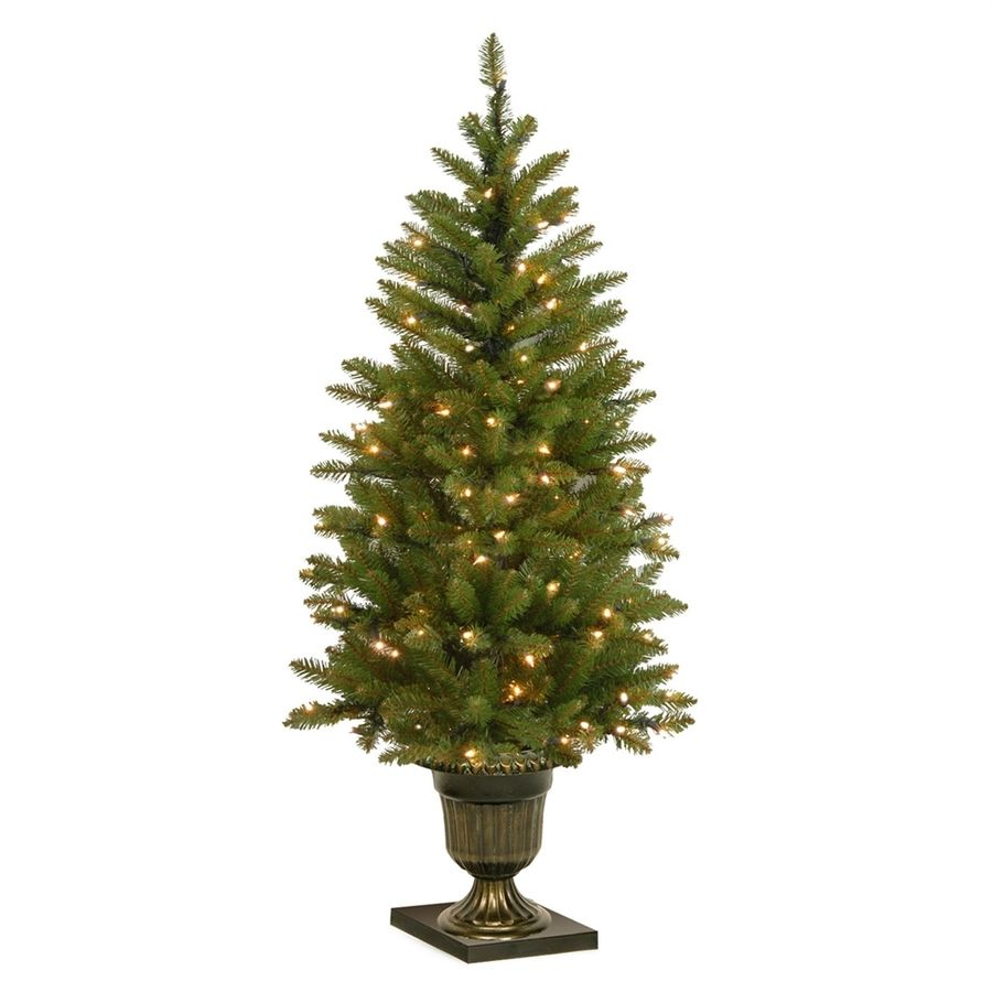 National Tree Company 4 Ft Pre Lit Slim Artificial Christmas Tree With 70 Constant White Clear Incandescent Lights Lowes Com Christmas Tree Clear Lights Pre Lit Christmas Tree Artificial Christmas Tree
