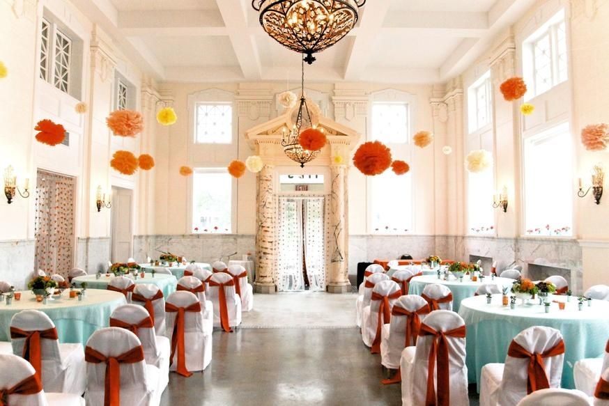 The Bankuet Place Urban Chic Event Space Waterfront Wedding Venue Virginia Wedding Venues Orange Turquoise Wedding