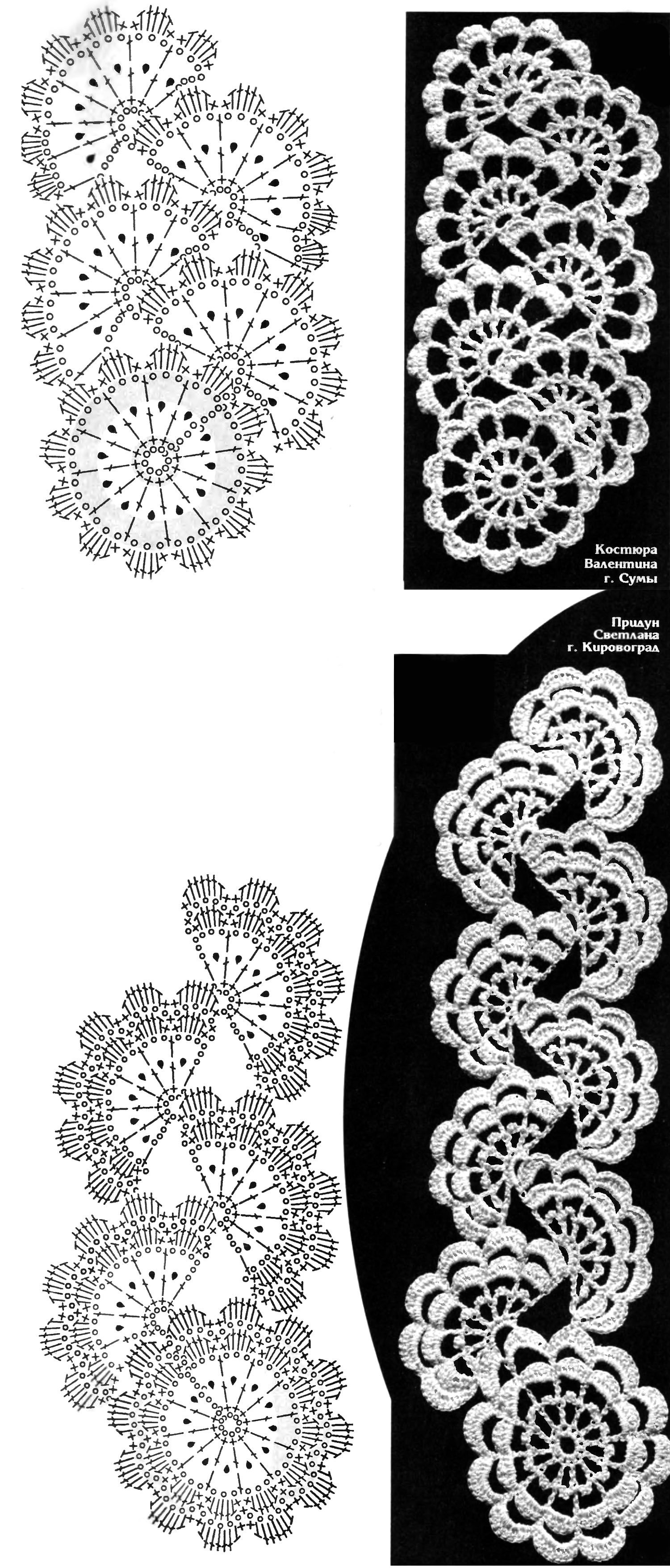 ленточное кружево вязание крючком | Crochet Charts | Pinterest ...