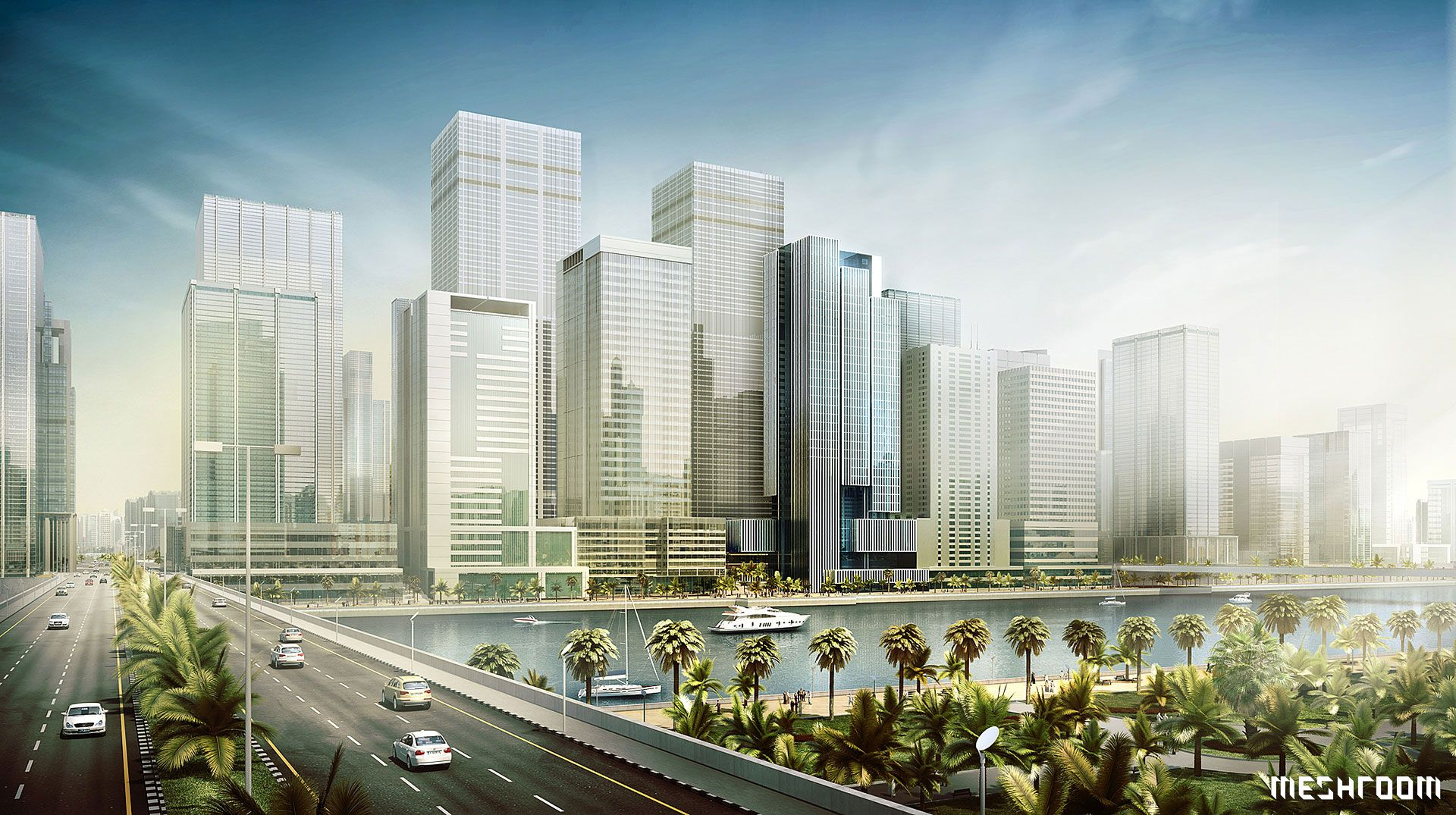 National Bank of Abu Dhabi Headquarters | UAE - 3D,  Architectural Visualisation, Meshroom