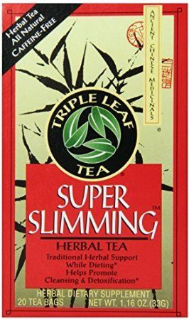 Triple Leaf Tea Tea Bags Super Slimming 20 Count Pack Of 6 To