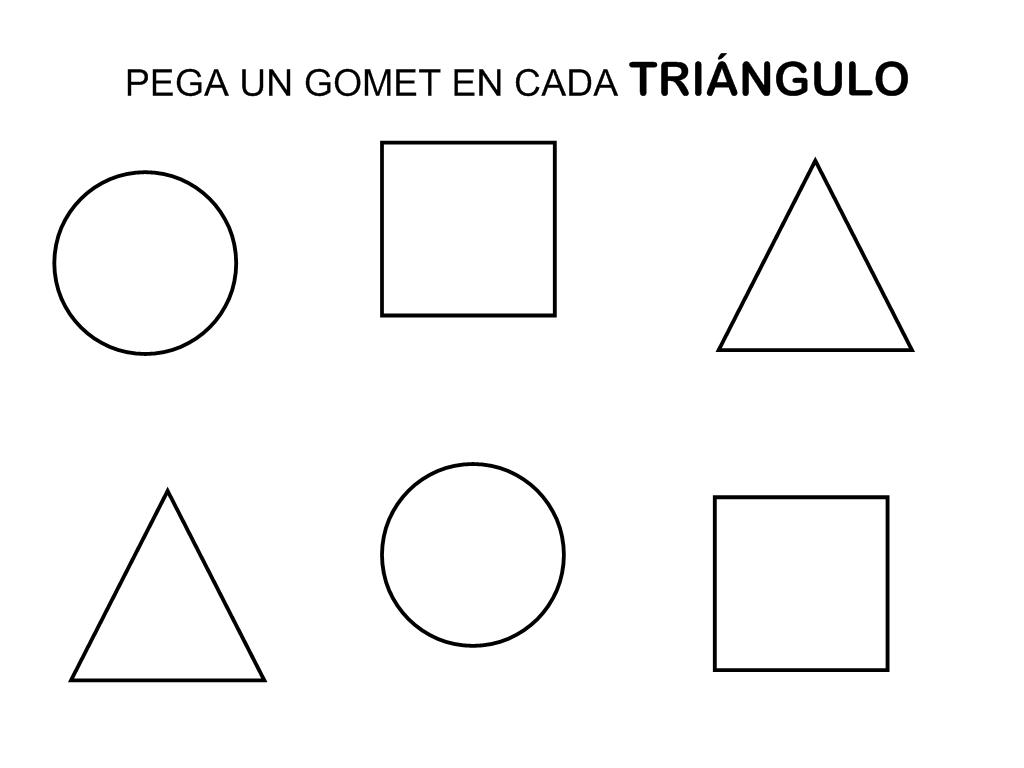Recursos Educación Infantil El Triángulo Fichas Triangulos Circulo