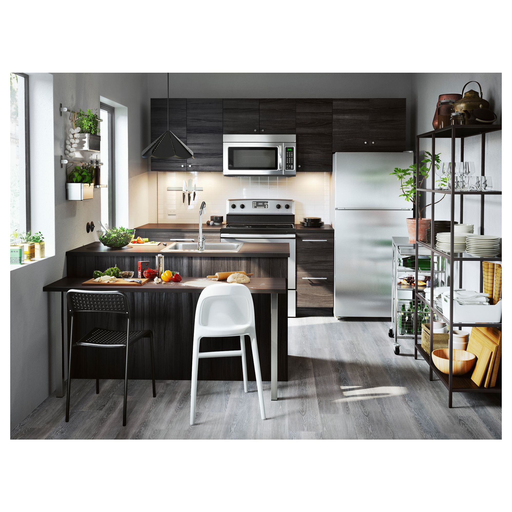 Ikea Tingsryd Door Wood Effect Black In 2019 Products