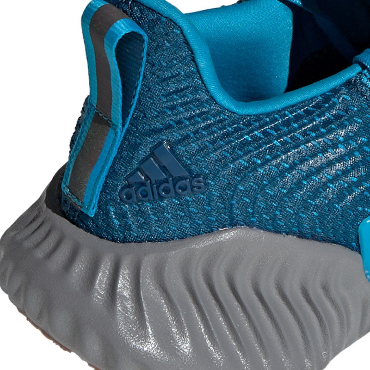 Blue shoes, Adidas running shoes