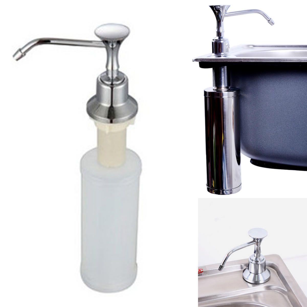 Details About 220ml White Kitchen Chrome Liquid Soap Dispenser Bathroom Sink Pump Bottles In 2020 Bathroom Soap Dispenser Soap Dispenser Soap Pump Dispenser