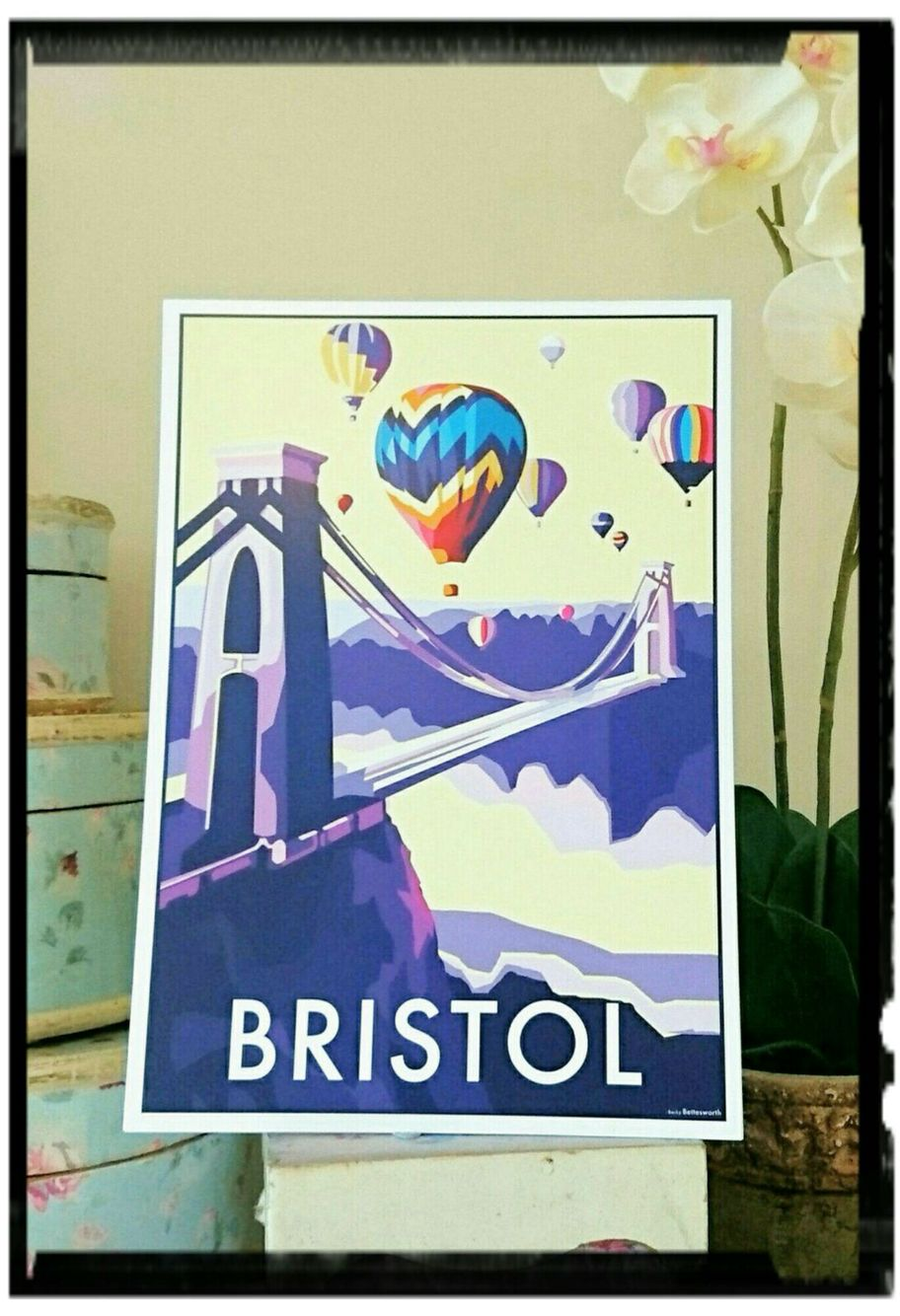 Beautiful prints and posters of Bristol available to buy www.beckybettesworth.co.uk #travelposters #devonartist #seasideprints #vintage #bristol #somerset #ssgreatbritain #riveravon #cliftonsurpenionbridge #beckybettesworth