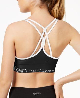 4b84f1f1cc Calvin Klein Performance Strappy-Back Low-Impact Sports Bra - Black XXL
