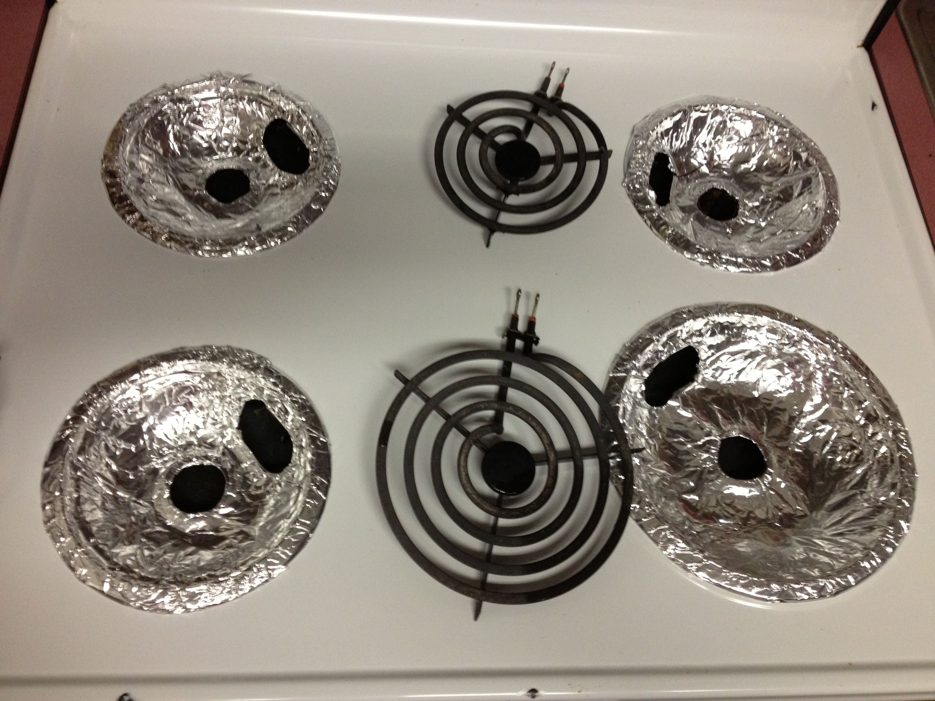 Cover Your Burner Bowls With Aluminum Foil Easy Way To