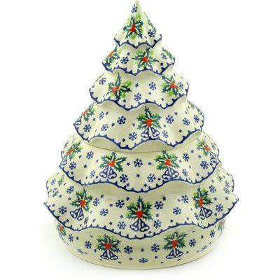 Polish Pottery Christmas Tree Jar 166 Oz Christmas Tree Jar Polish Pottery Christmas Tree Candle Holder