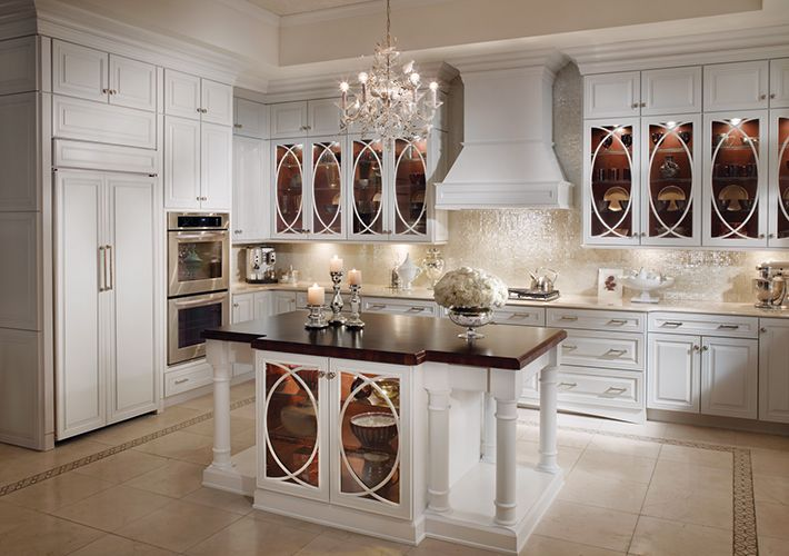 KraftMaid Traditional Kitchen In White   Home Depot