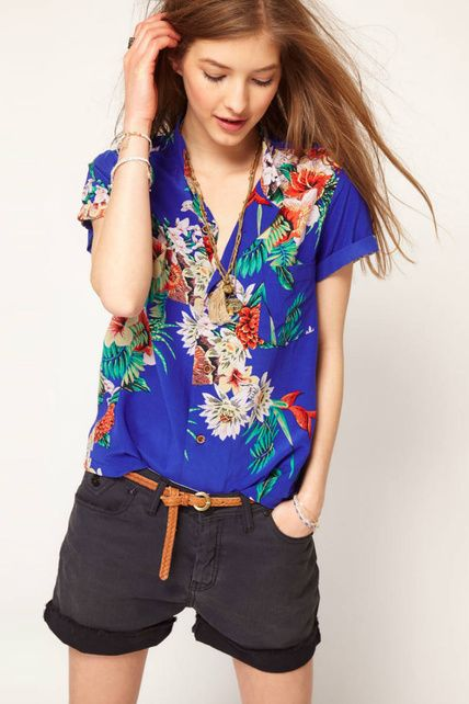 9f08e53b7be7 camisa hawaiana mujer azul