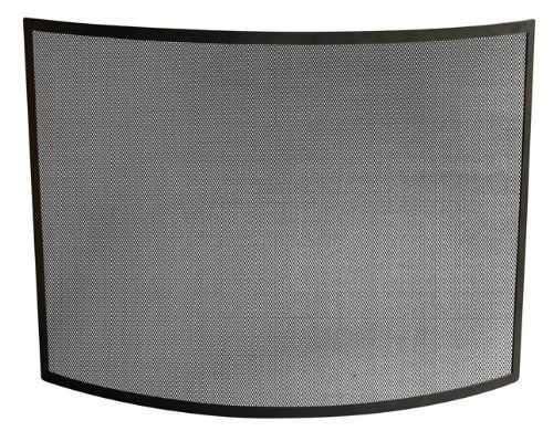 Uniflame Single Panel Curved Black Wrought Iron Screen Uniflame