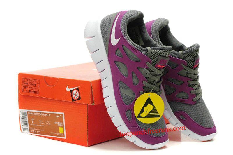 best website 39f42 199ad ... usa discount grey purple nike free run 2 womens b0176 d32de
