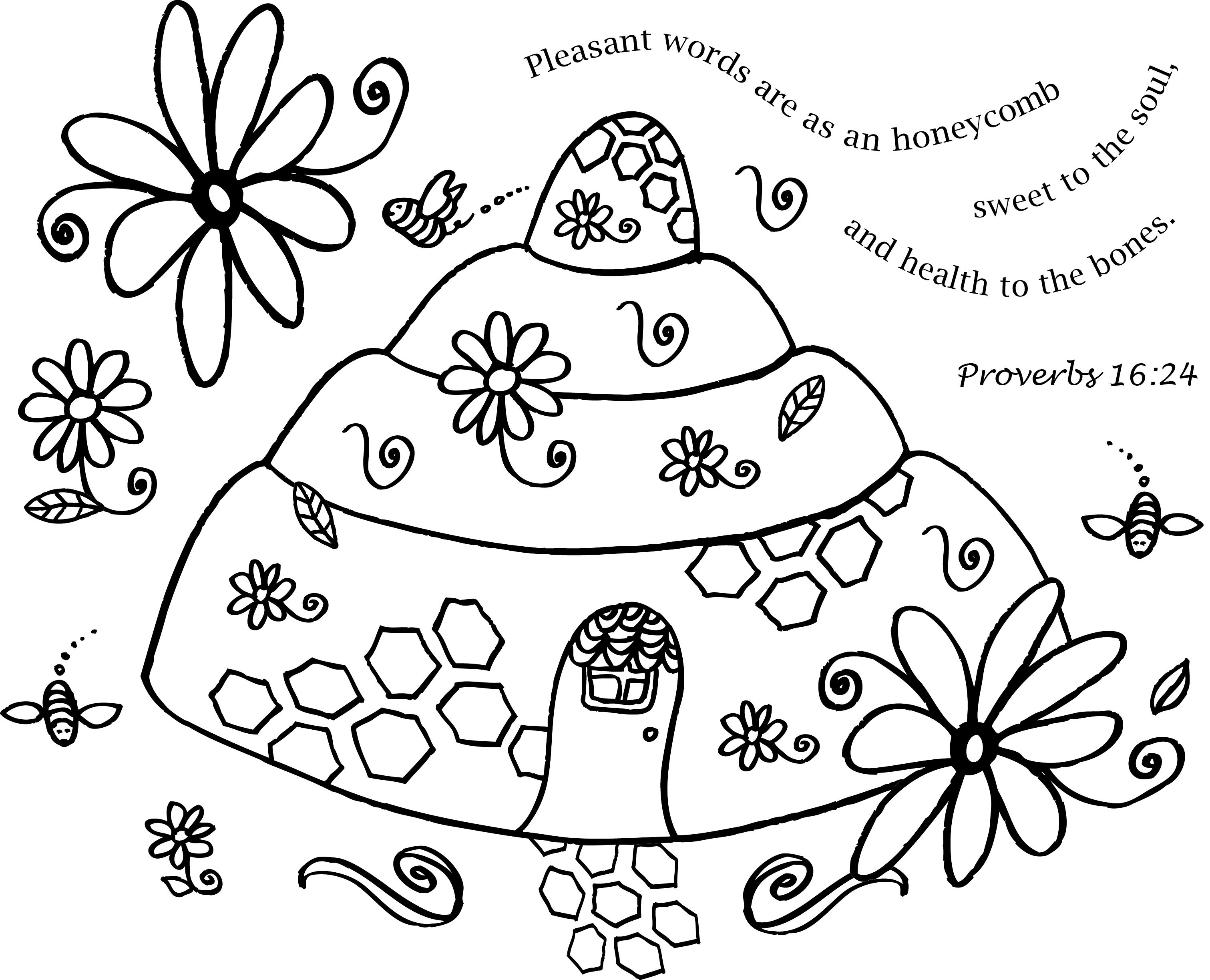 Image Result For Proverbs 16 24 Valentine Coloring Pages