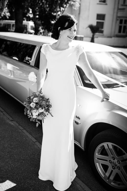 Melanie wearing the Fern gown #JennyPackhamBride www.jennypackham.com