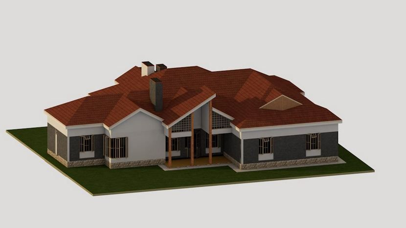 4 Bedroom Bungalow House Plan In Kenya Muthurwa Com Bungalow House Plans Rustic House Plans House Plans