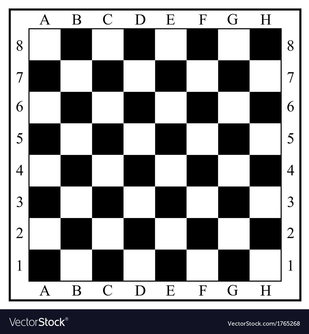 Chess Board Without Chess Pieces Vector Image On Vectorstock