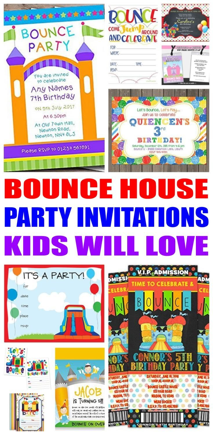 Bounce House Party Invitations   Pinterest   Bounce house parties ...