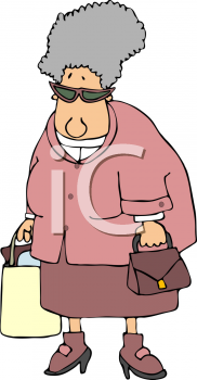 Iclipart Com Royalty Free Clipart Image Of An Older Woman Shopping Stock Photography Free Shopping Clipart Clip Art