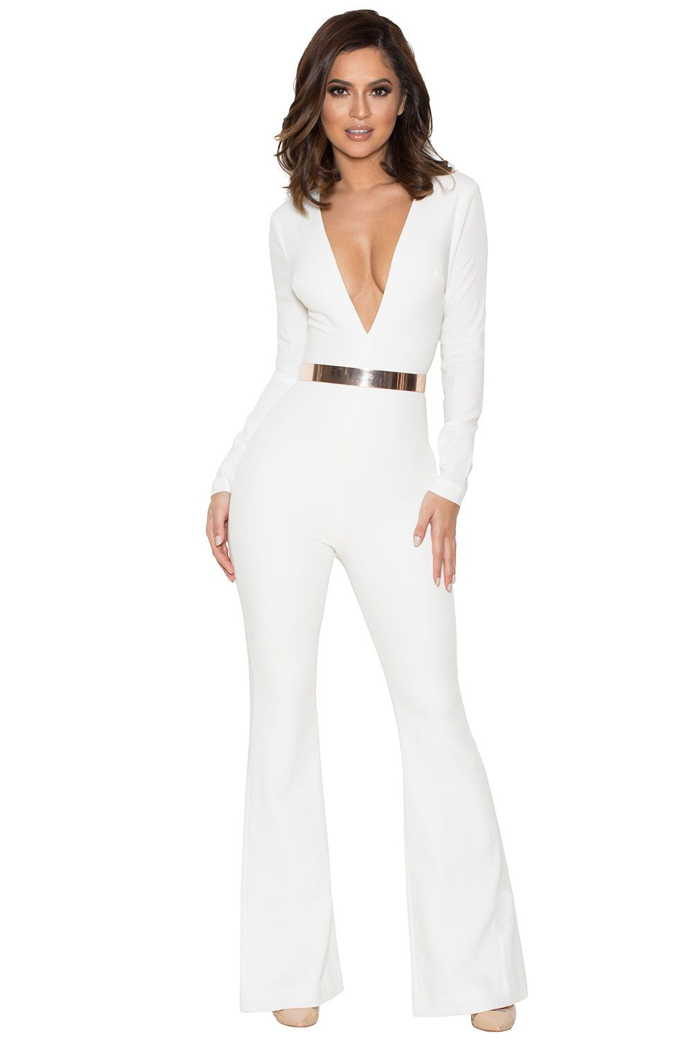09f023b43a9c Clothing jumpsuits catalin white deep jumpsuit all white jpg 1000x1500 All white  party jumpsuits
