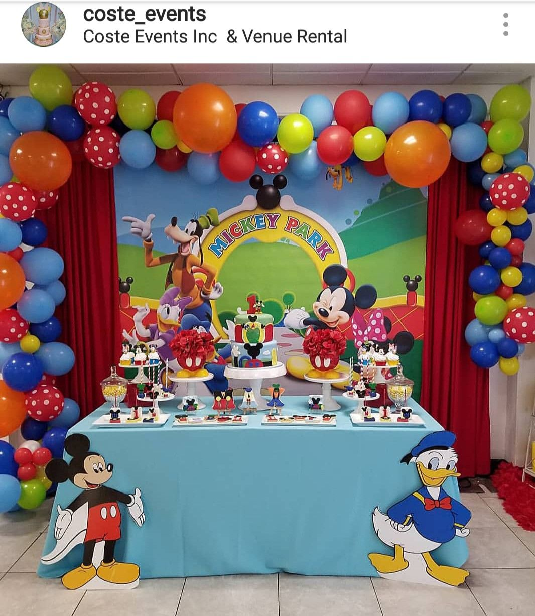 Mickey Mouse Clubhouse 1st Birthday Dessert Table And Decor