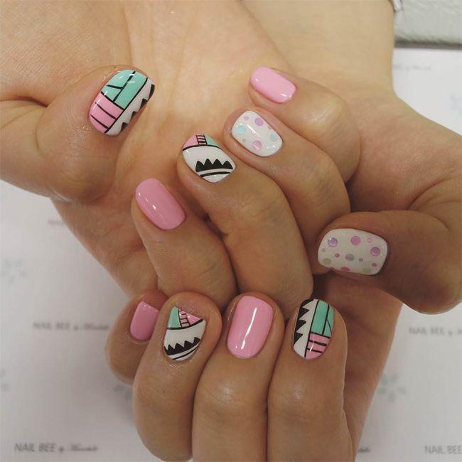 Round Nail Designs Nails Pinterest Round Nails And Short Nails
