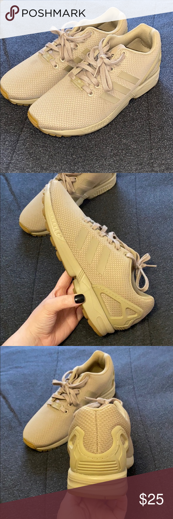Tan Adidas Zx Flux Shoes in 2020 | Tan
