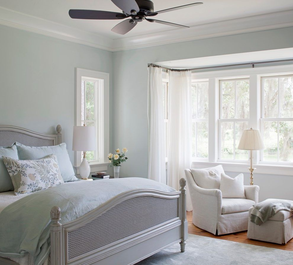 Sherwin Williams Sea Salt Color Bedroom Traditional With Wicker Bed Traditional Jar Candles Bedroom Paint Colors Master Master Bedroom Paint Painted Bedroom Furniture